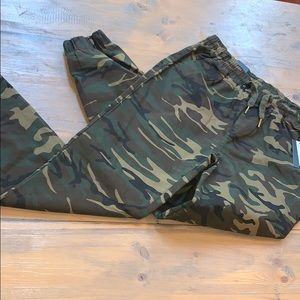 NWT camouflage joggers